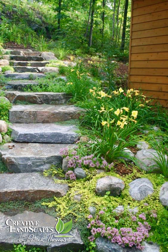 Natural Stone Pathways Creative Landscapes